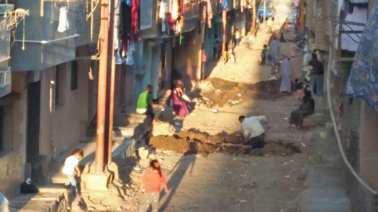 الحفر بالشارع