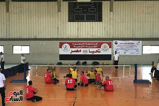 فوز فريق المسقبل ببطولة دورى الكرة الطائرة جلوس رجال بجامعة المنصورة (1)