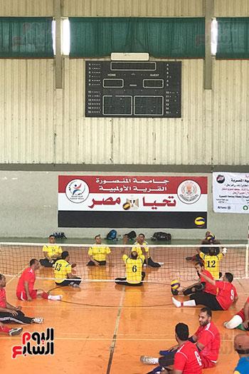 فوز فريق المسقبل ببطولة دورى الكرة الطائرة جلوس رجال بجامعة المنصورة (2)