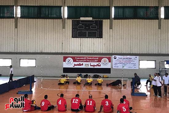 فوز فريق المسقبل ببطولة دورى الكرة الطائرة جلوس رجال بجامعة المنصورة (3)