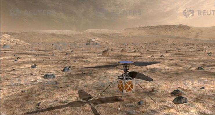 طائرة هليكوبتر سيتم ارسالها فوق المريخ