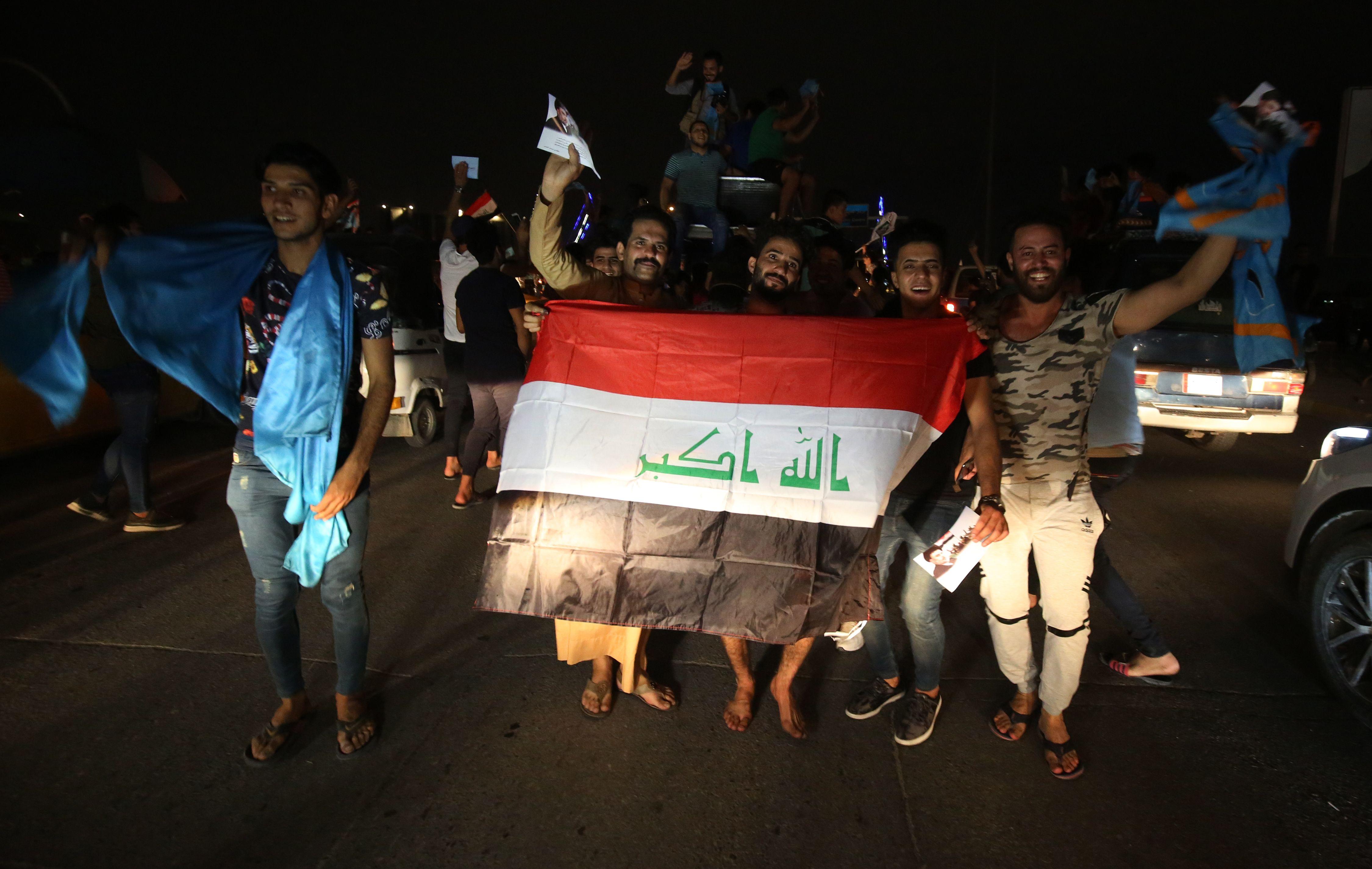 احتفالات فى العراق بنتائج الانتخابات التشريعية