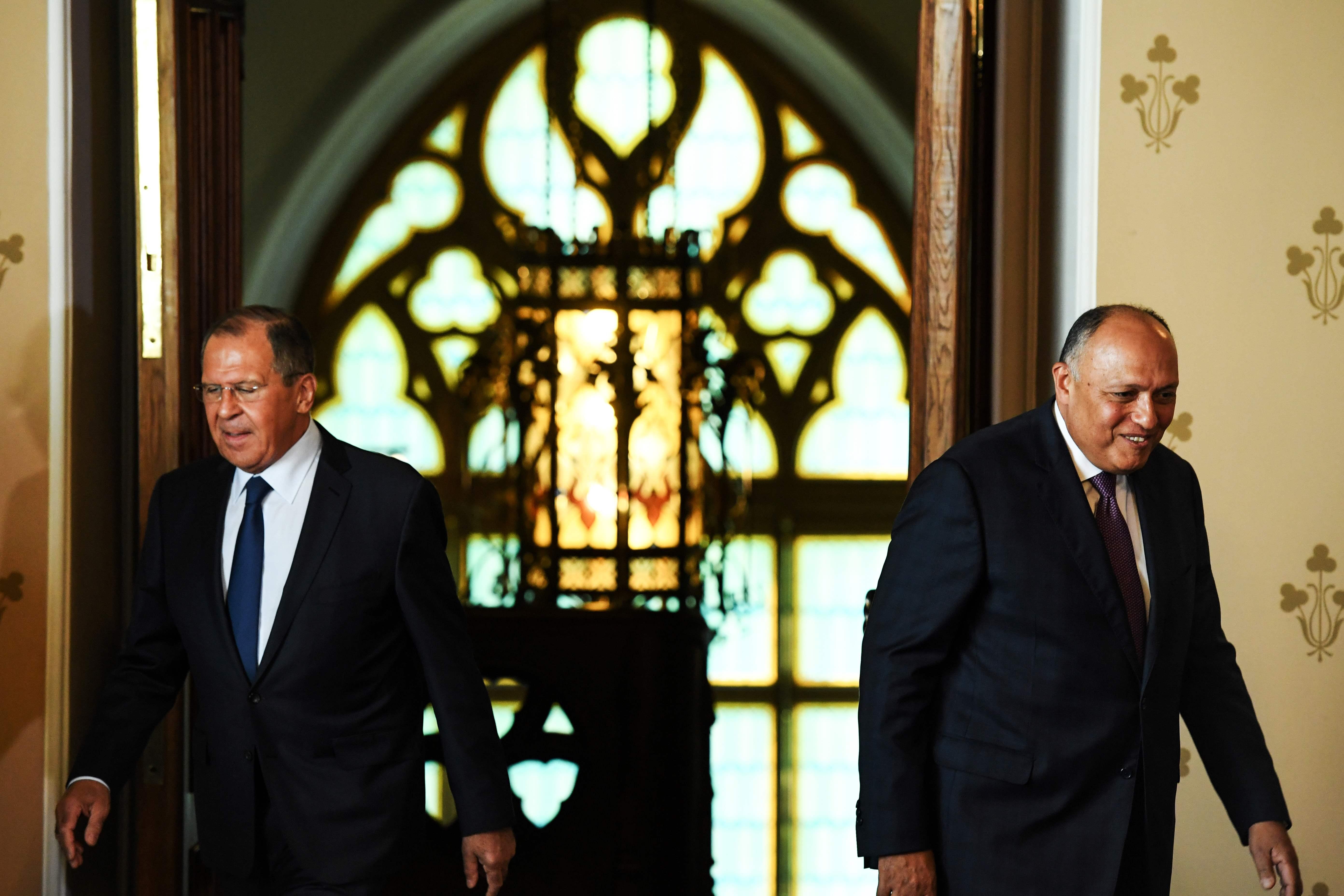 اجتماع سامح شكرى وسيرجى لافروف فى موسكو