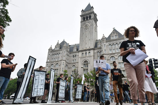 مظاهرات فى أمريكا ضد نقل سفارة واشنطن إلى القدس