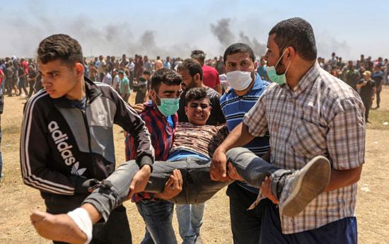 إصابة شاب فلسطينى برصاص الاحتلال على حدود غزة
