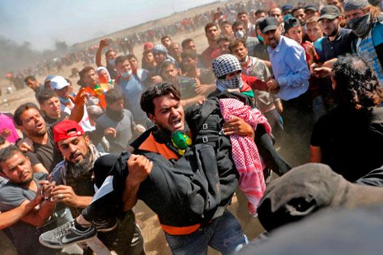 استشهاد شاب فلسطينى برصاص الاحتلال على حدود غزة