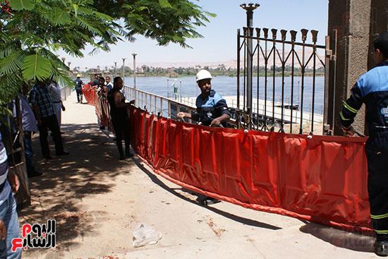 جانب من تنفيذ السيناريو بنهر النيل في الاقصر