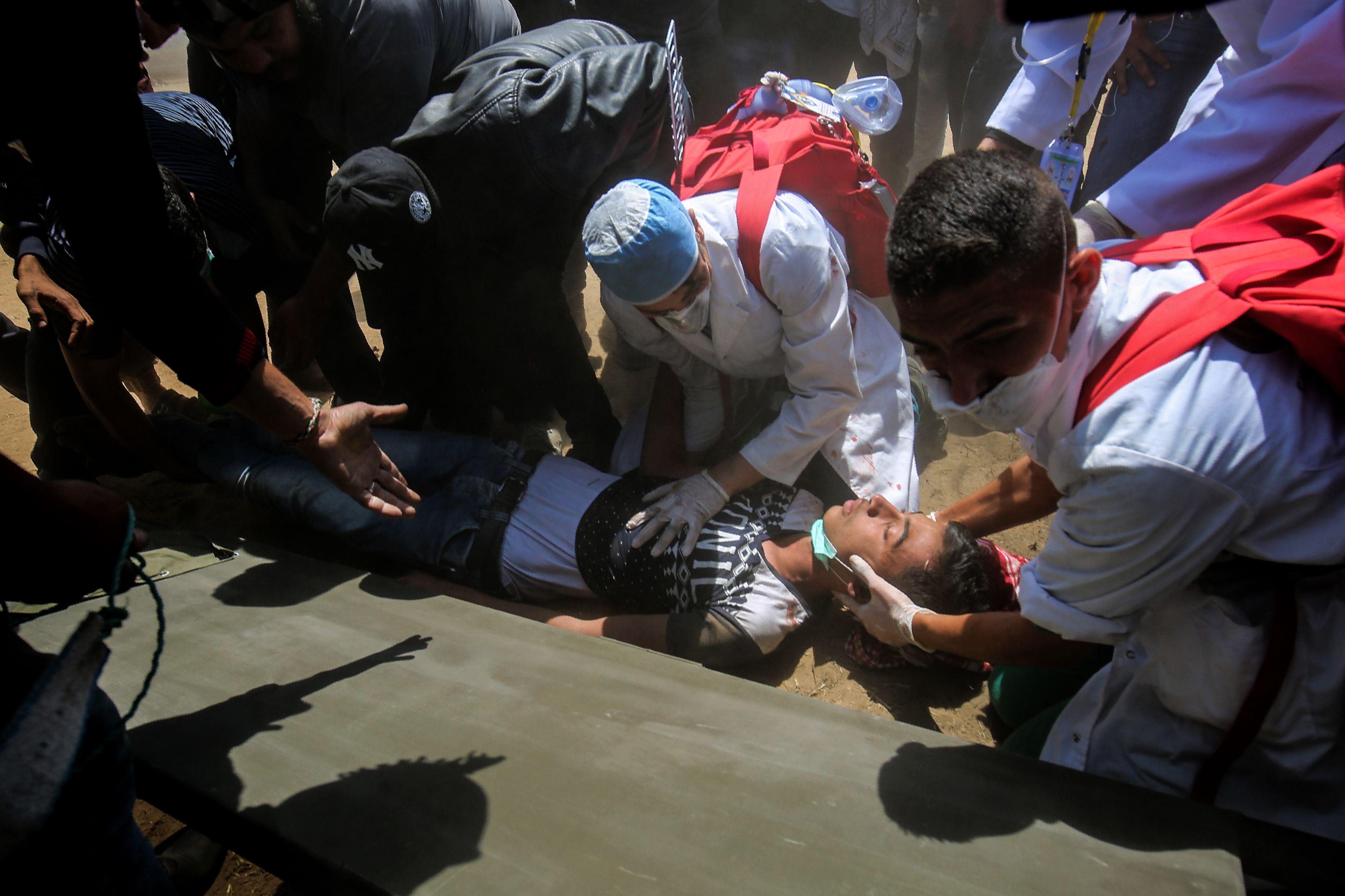 استشهاد فلسطينى برصاص الاحتلال فى غزة