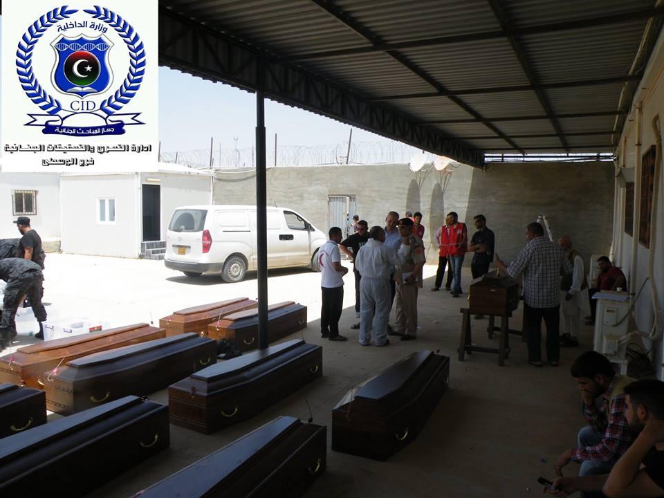 السلطات الليبية تتولى الاشراف على نقل رفات الاقباط المصريين