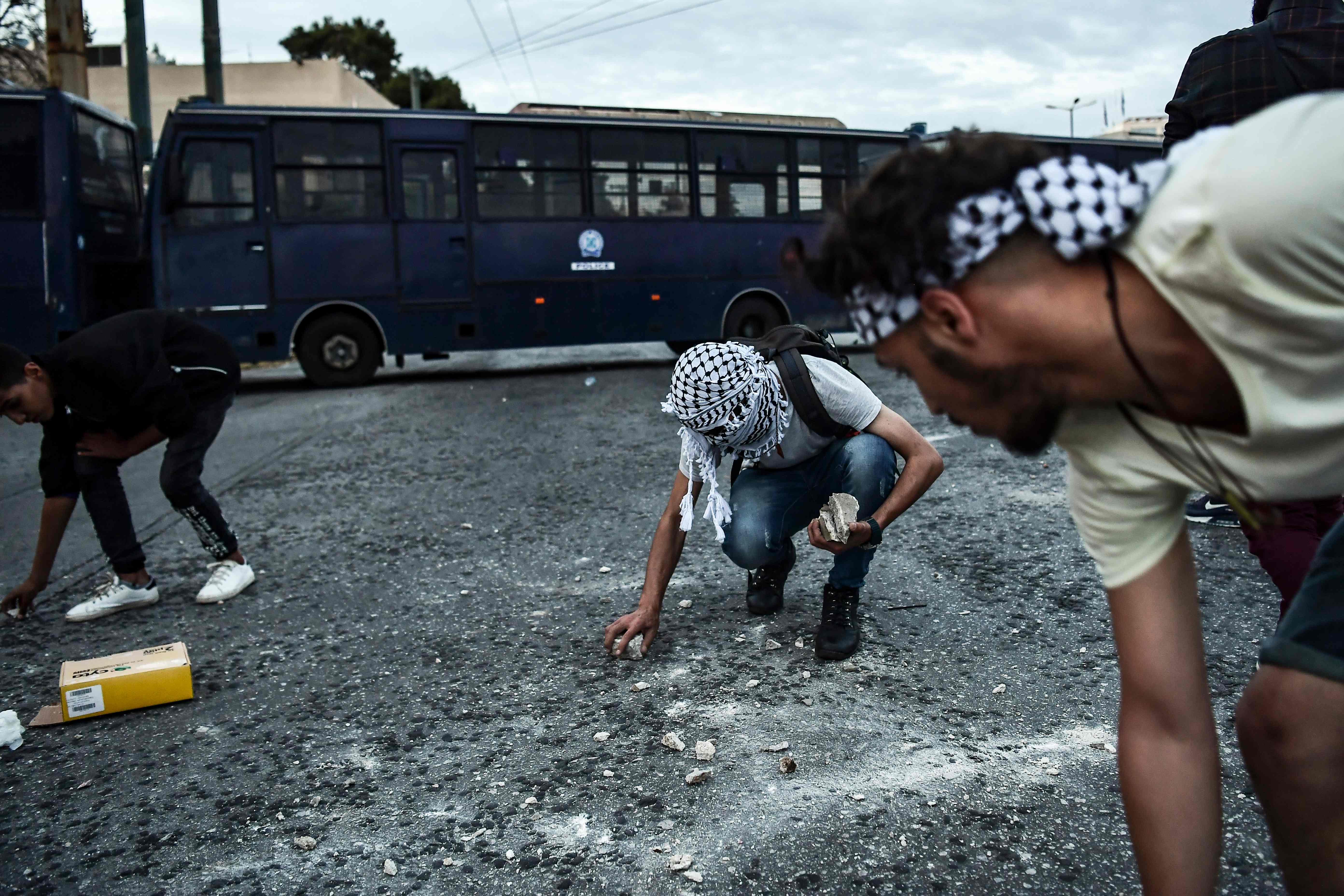 اشتباكات فى اليونان