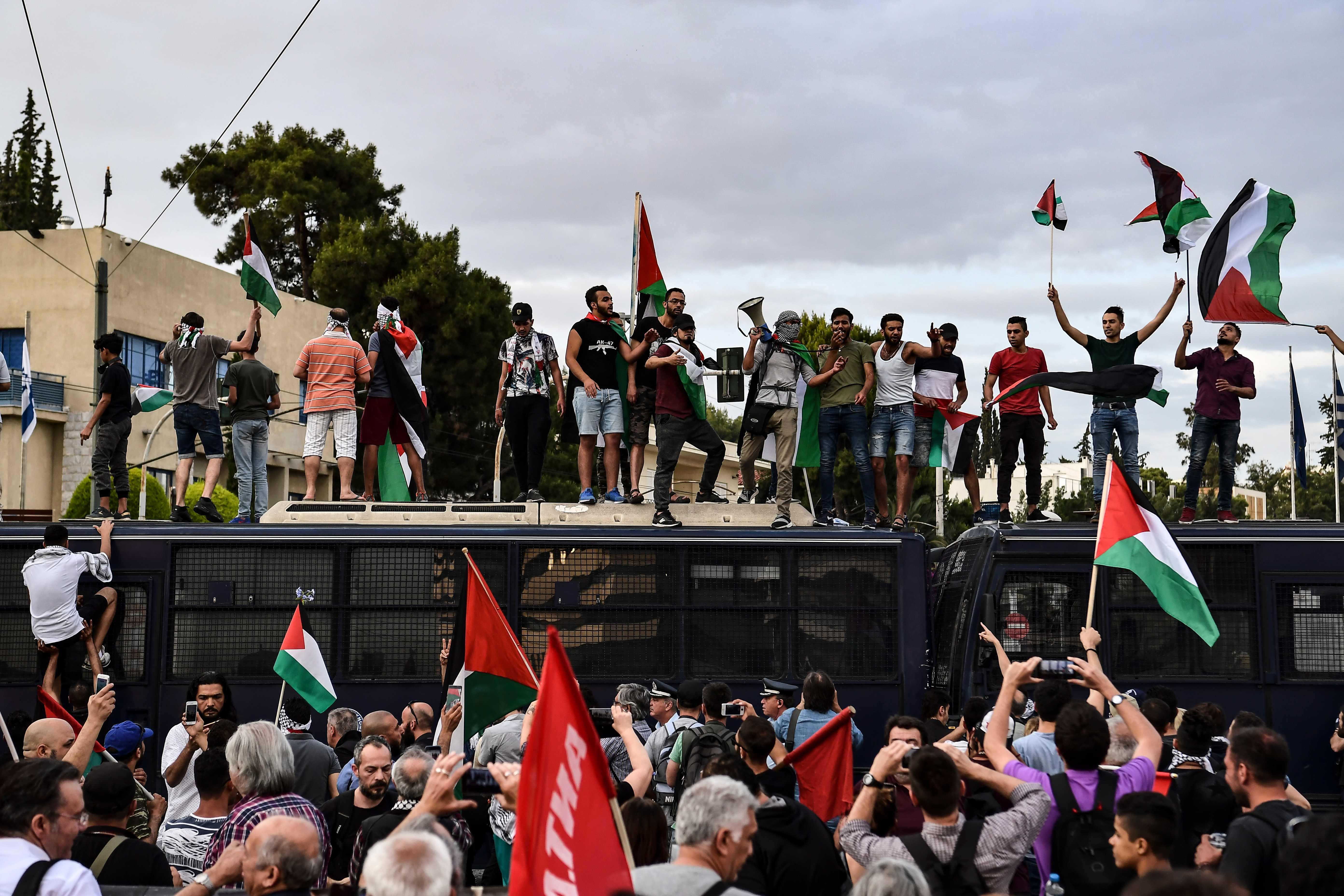 تظاهرات تضامنية مع فلسطين فى اليونان