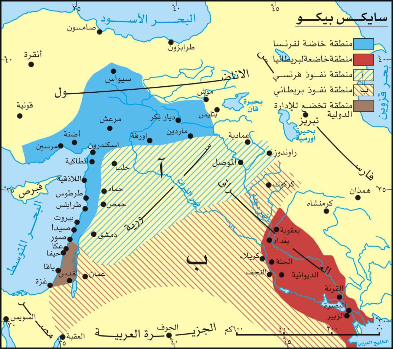 بداية التقسيم من هنا 1916 تاريخ ضياع فلسطين اعرف القصة اليوم