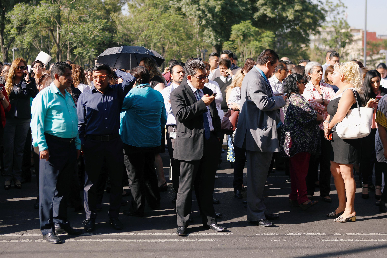 جانب من مواطنوا المكسيك فى الشوارع
