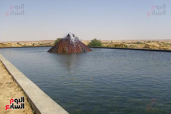 حوض تخزين وتبريد المياه الجوفية لاستخدامها فى الشرب والزراعة