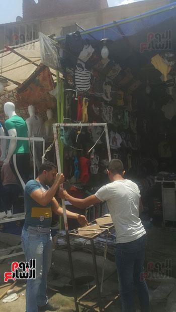 محافظة الجيزة تزيل الباعة الجائلين (5)