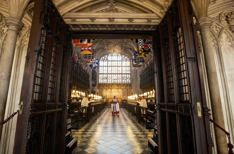 بروفة لحفل زفاف الأمير هارى داخل كنيسة سانت جورج