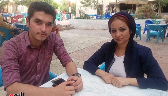 محررة اليوم السابع مع القارئ الشاب أحمد طارق