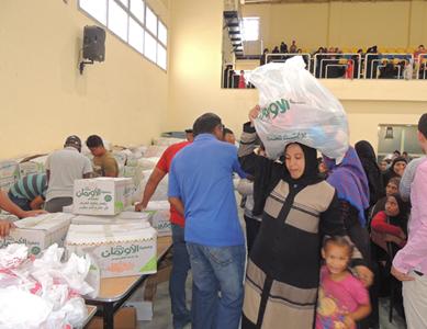 توزيع المساعدات