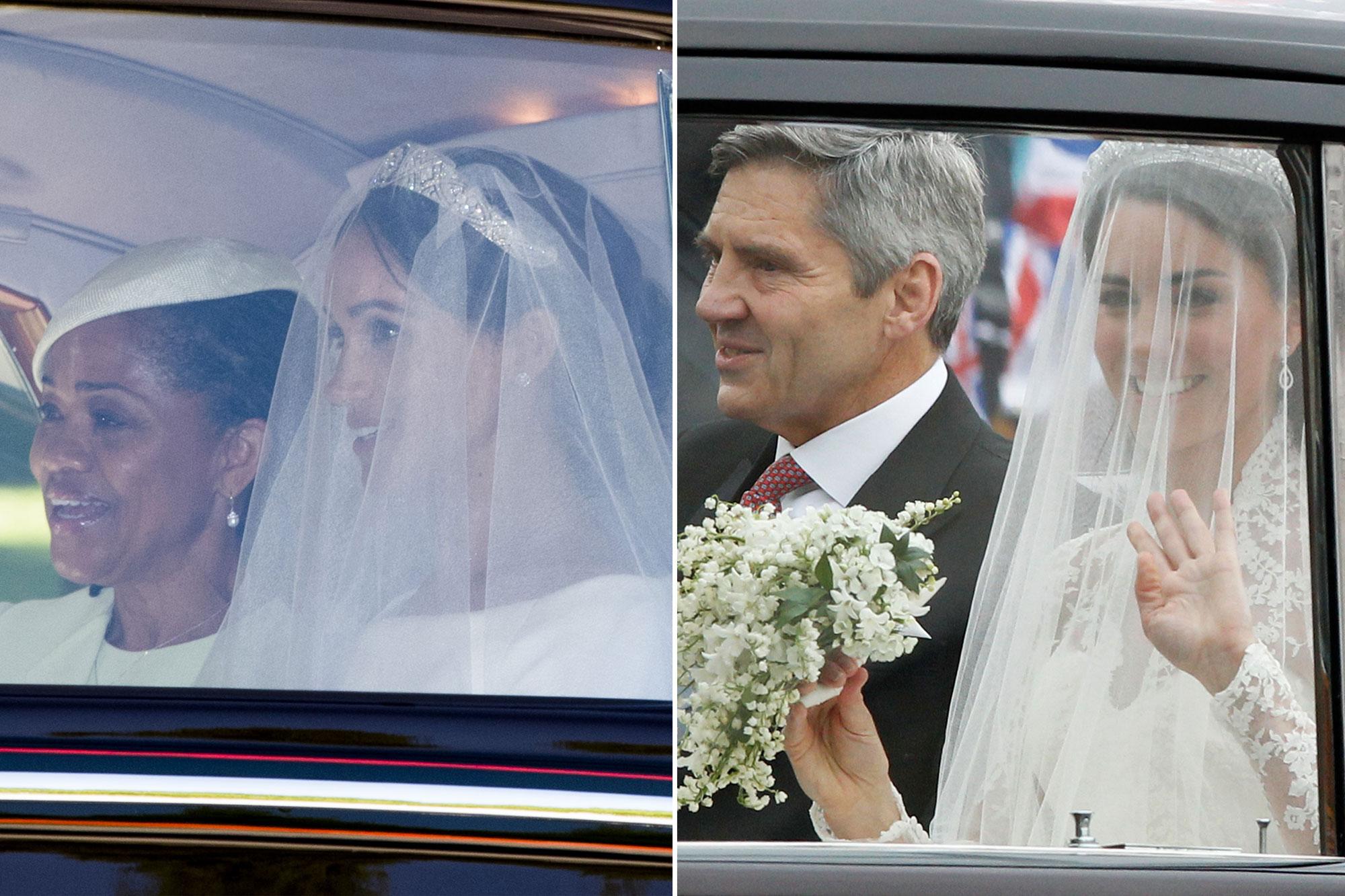 وصول الأميرة كيت وميجان