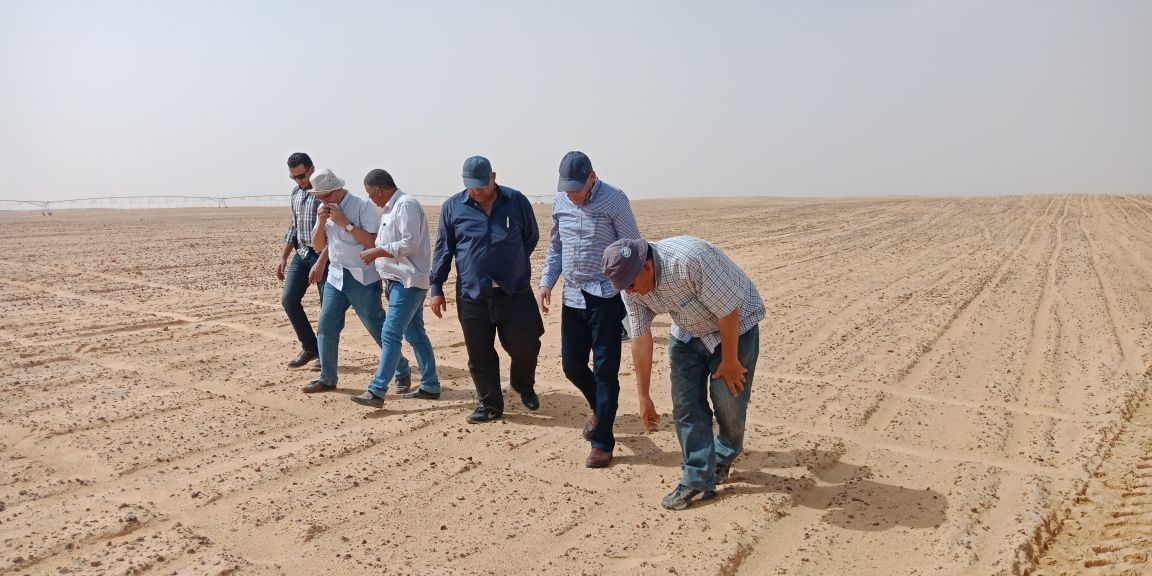 وزير الزراعة يتفقد أعمال مزرعة الـ 20 ألف فدان بغرب المنيا (7)