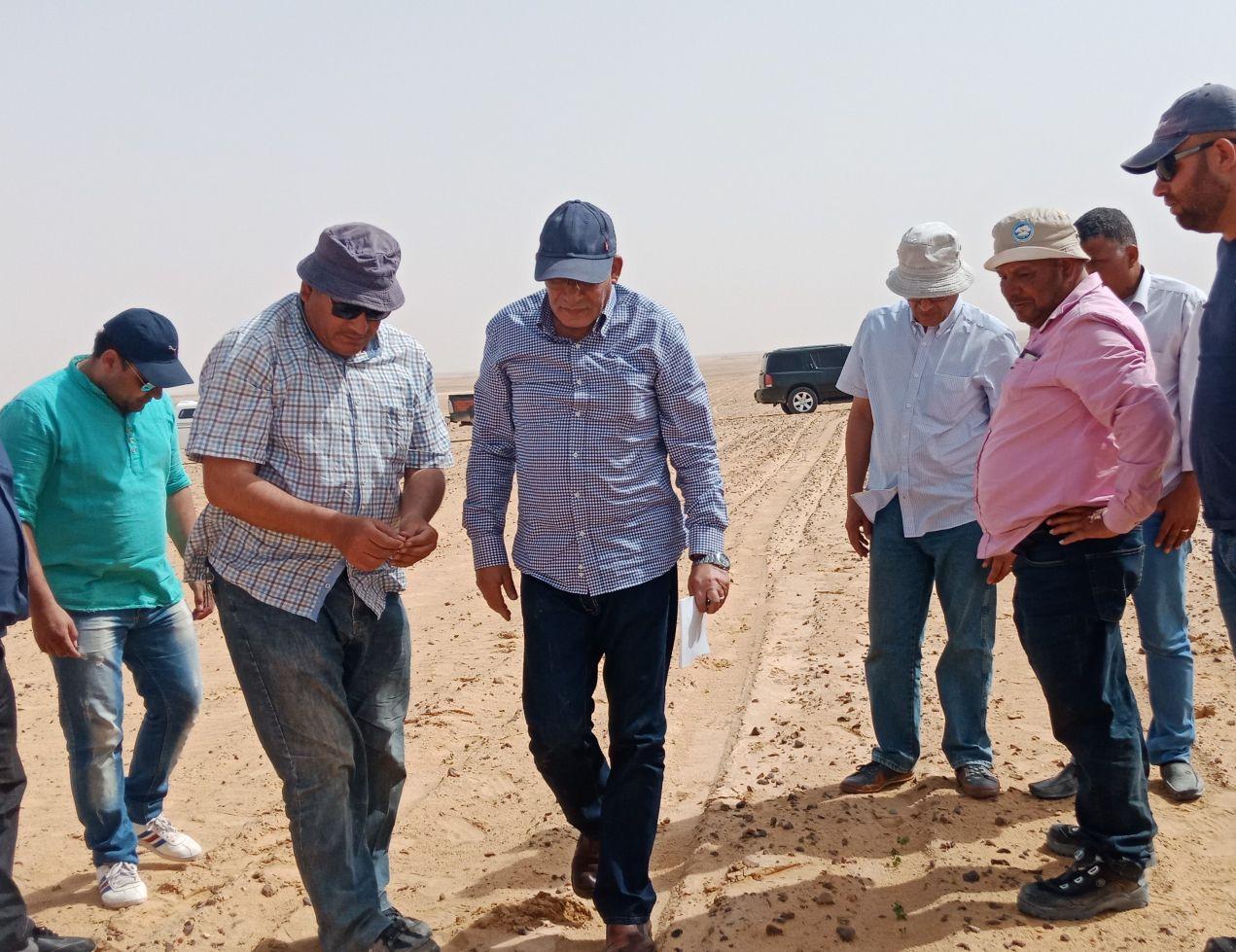 وزير الزراعة يتفقد أعمال مزرعة الـ 20 ألف فدان بغرب المنيا (5)