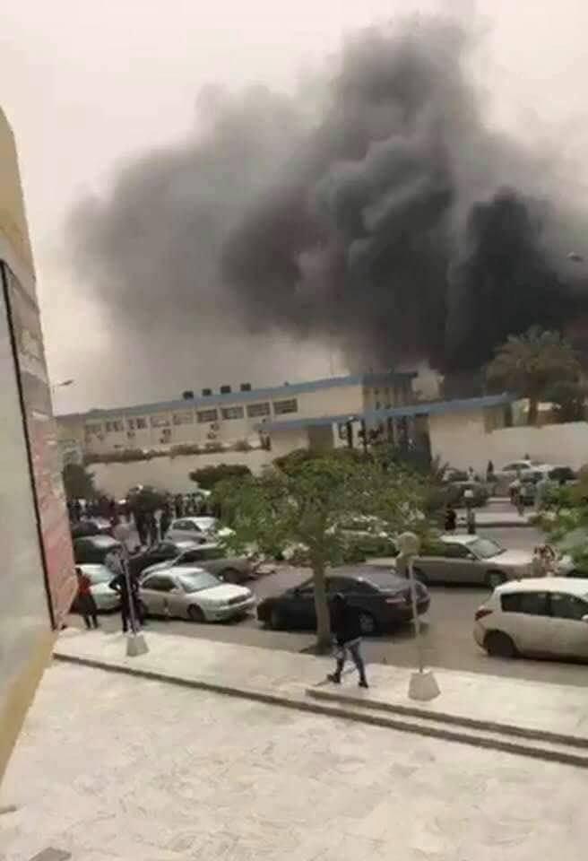 تفجير مفوضيه الانتخابات فى العاصمه طرابلس