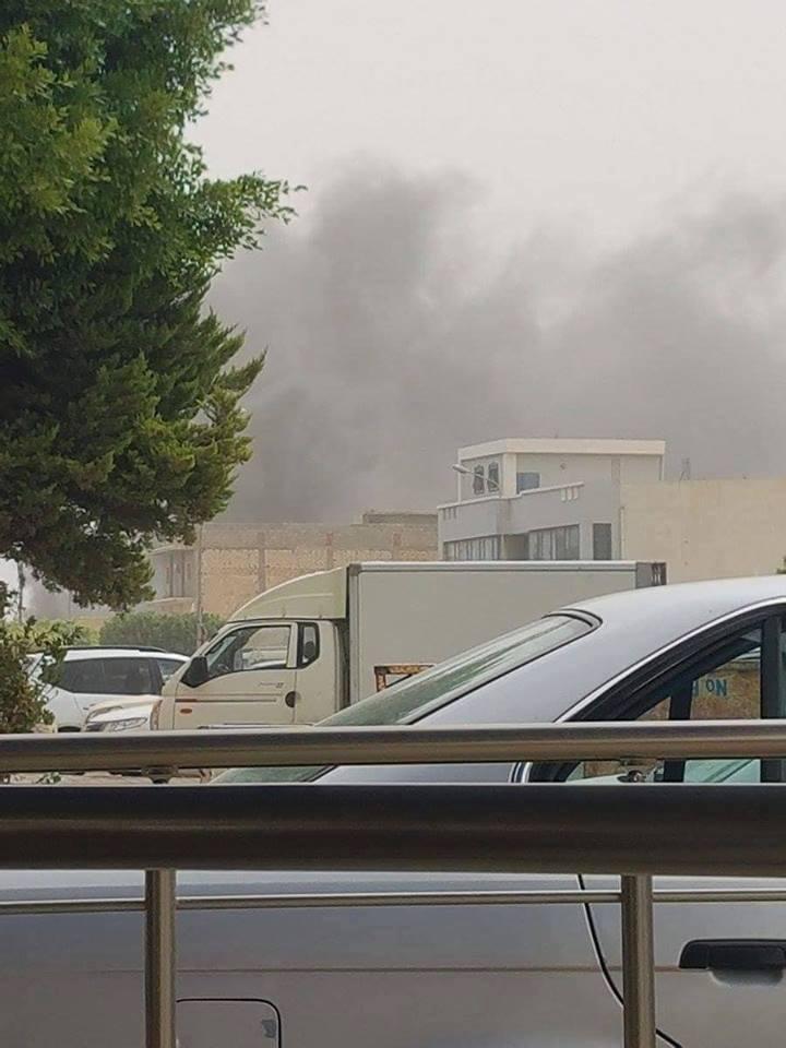 تفجير مفوضيه الانتخابات فى طراللس
