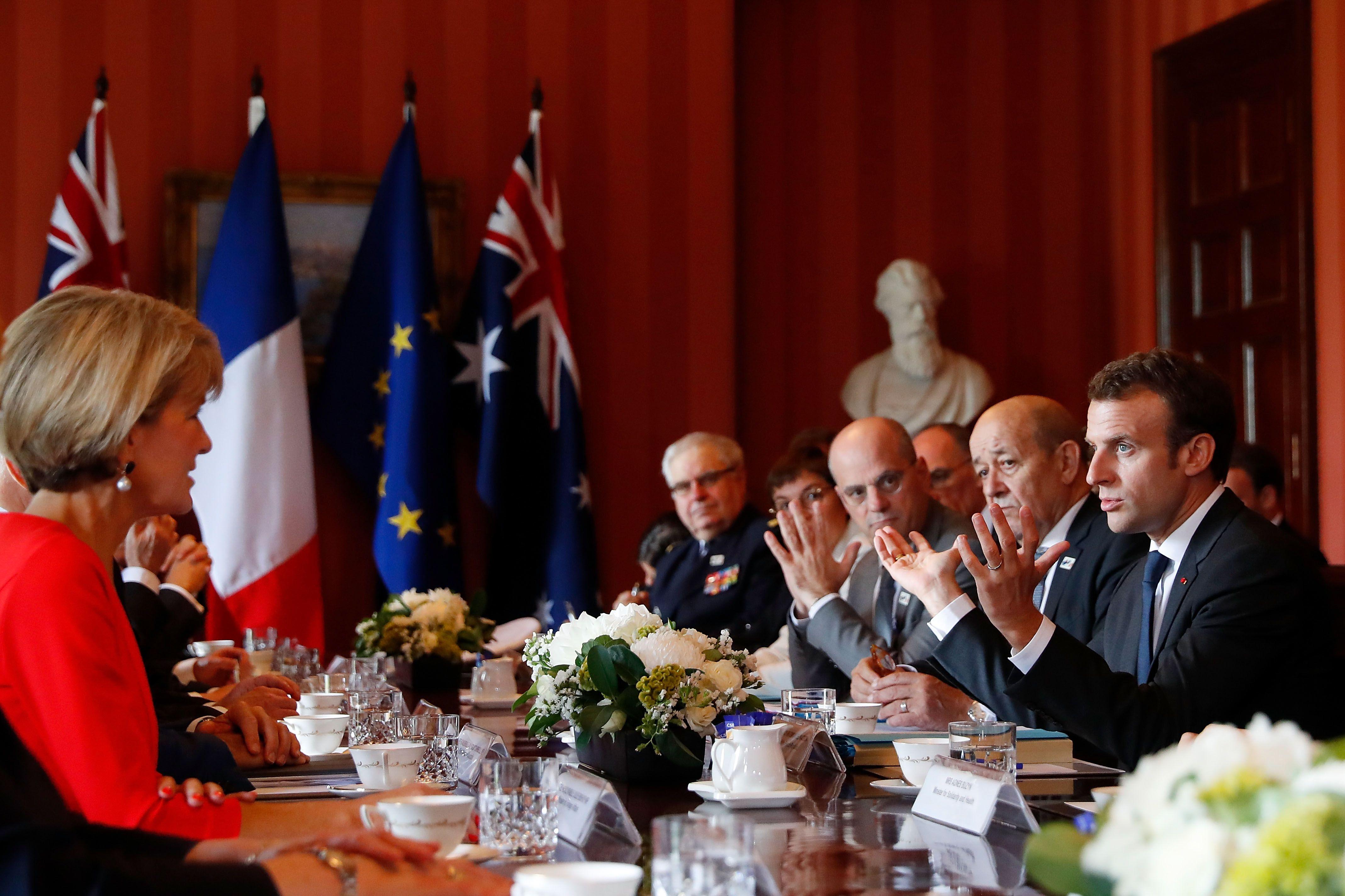 الرئيس الفرنسي في أستراليا