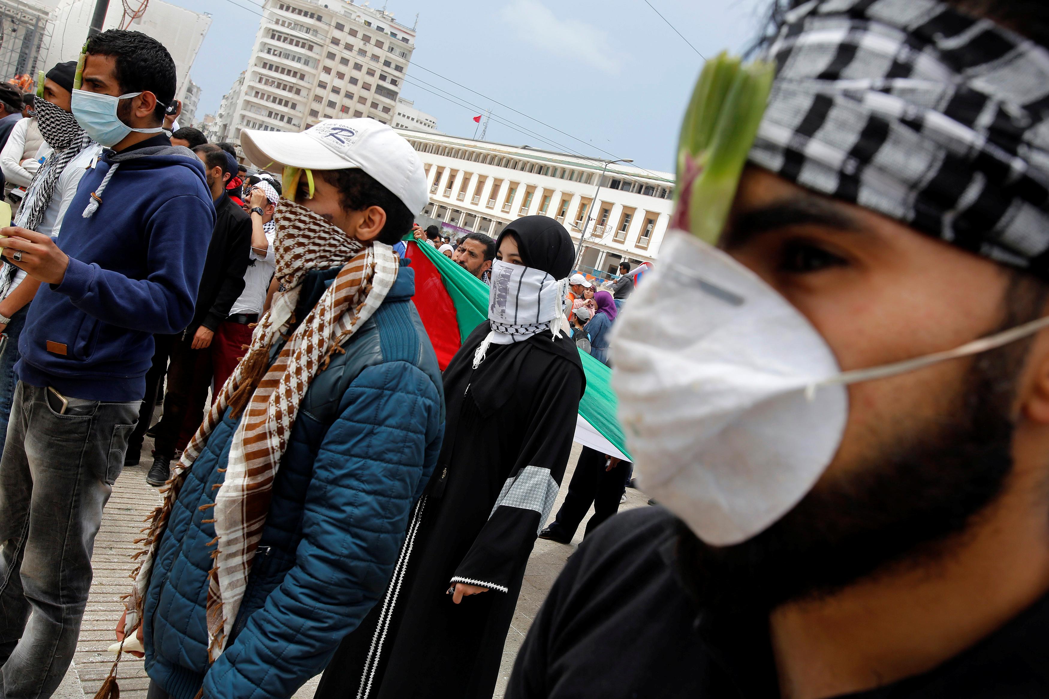 متظاهرون فى المغرب