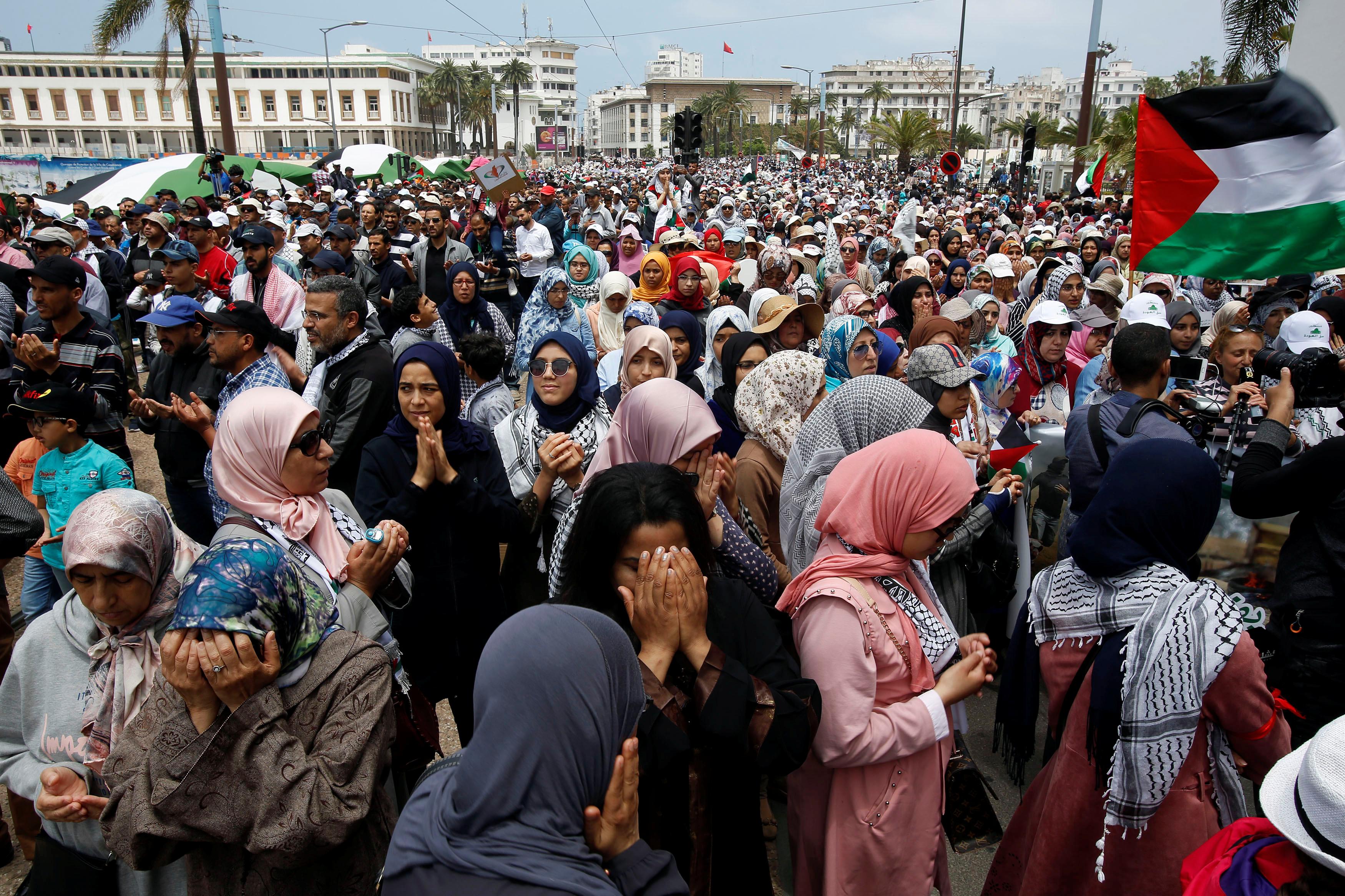 جانب من المظاهرات فى المغرب