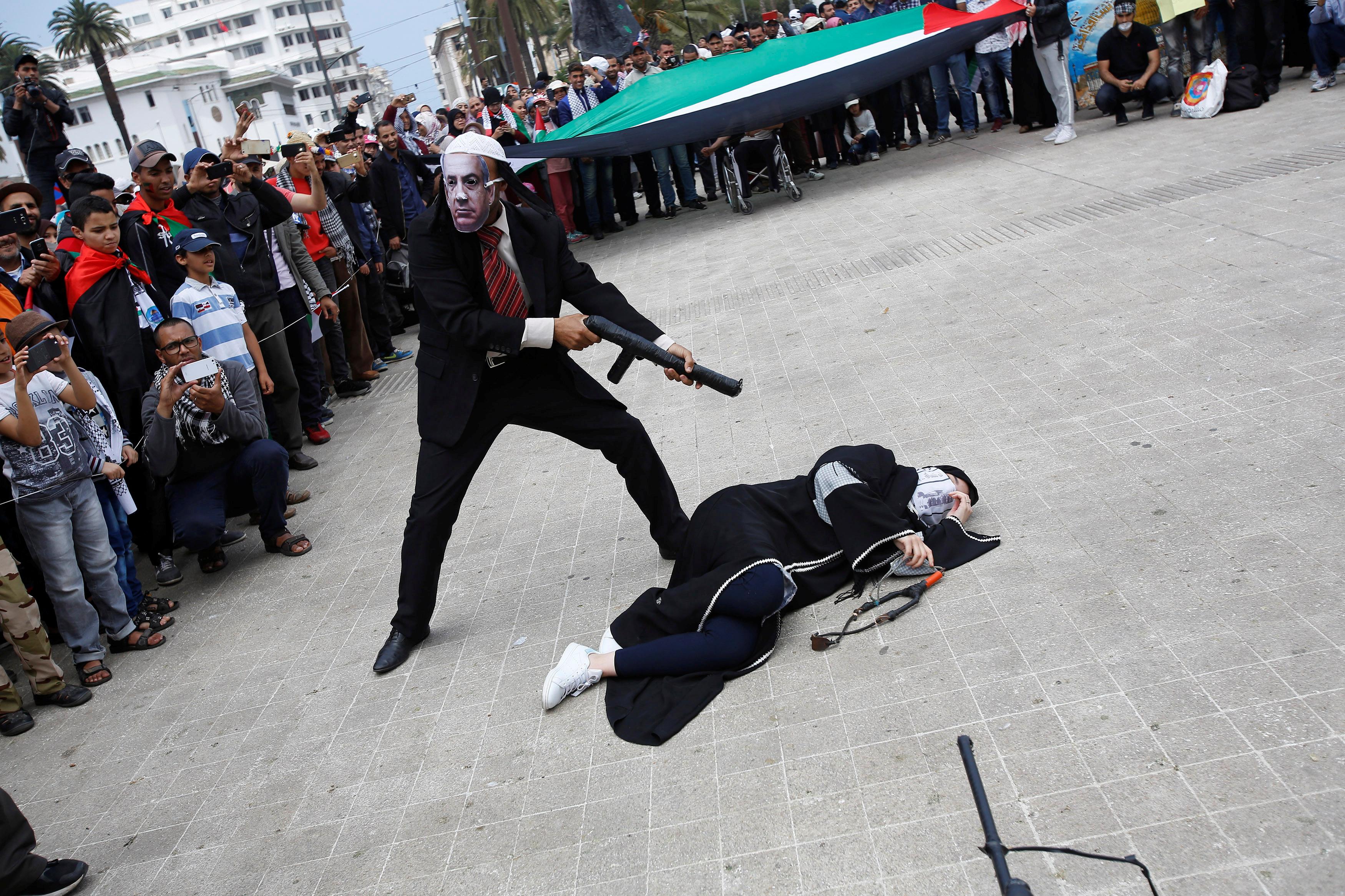 فعاليات أمام السفارة الأمريكية بالمغرب