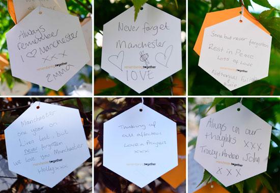 رسائل البريطانيين لأرواح ضحايا هجوم مانشستر أرينا