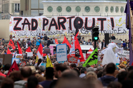المظاهرات فى فرنسا