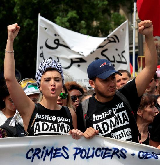 متظاهرون فرنسيون