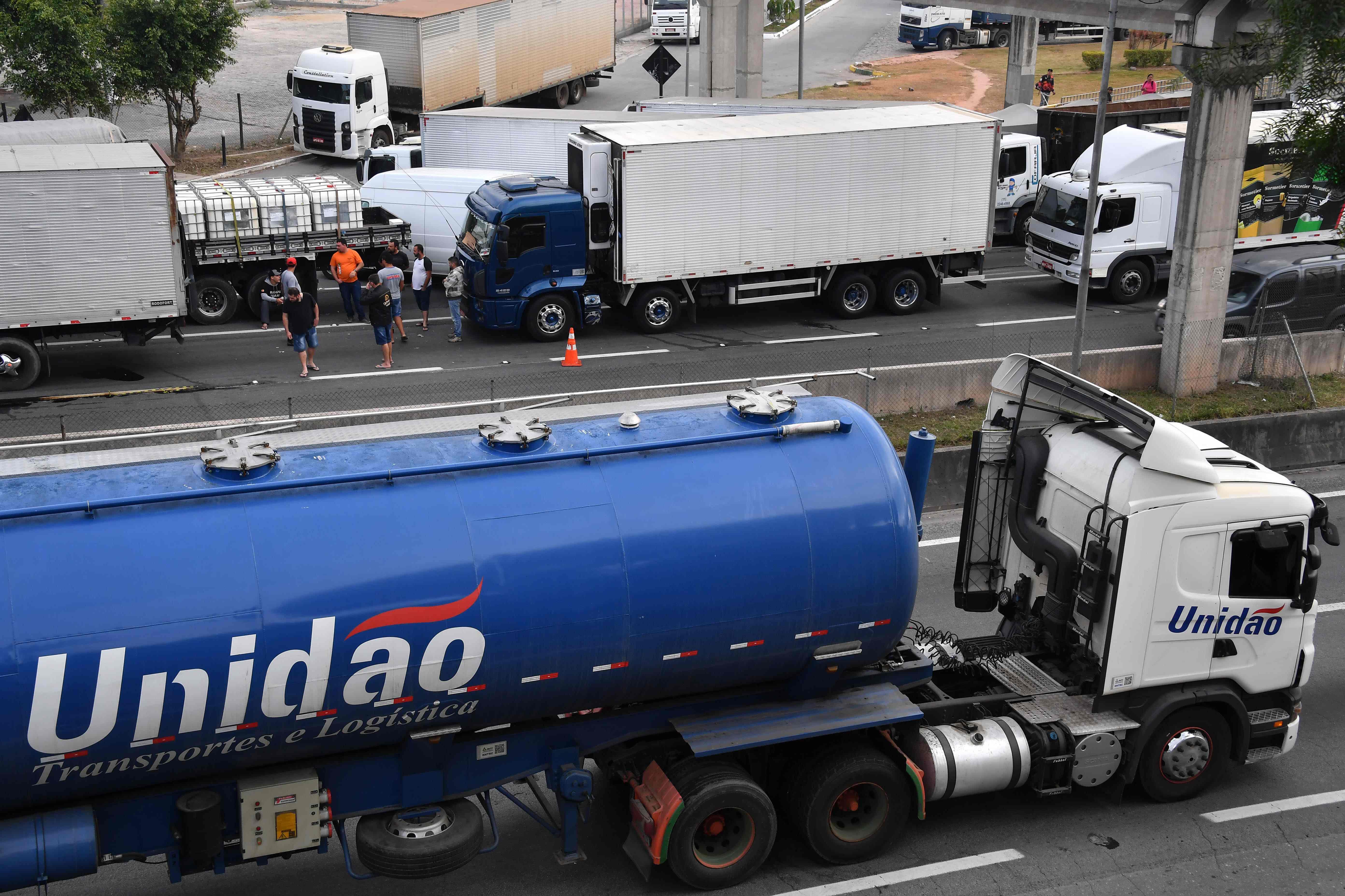 شلل الطرق الرئيسية فى البرازيل