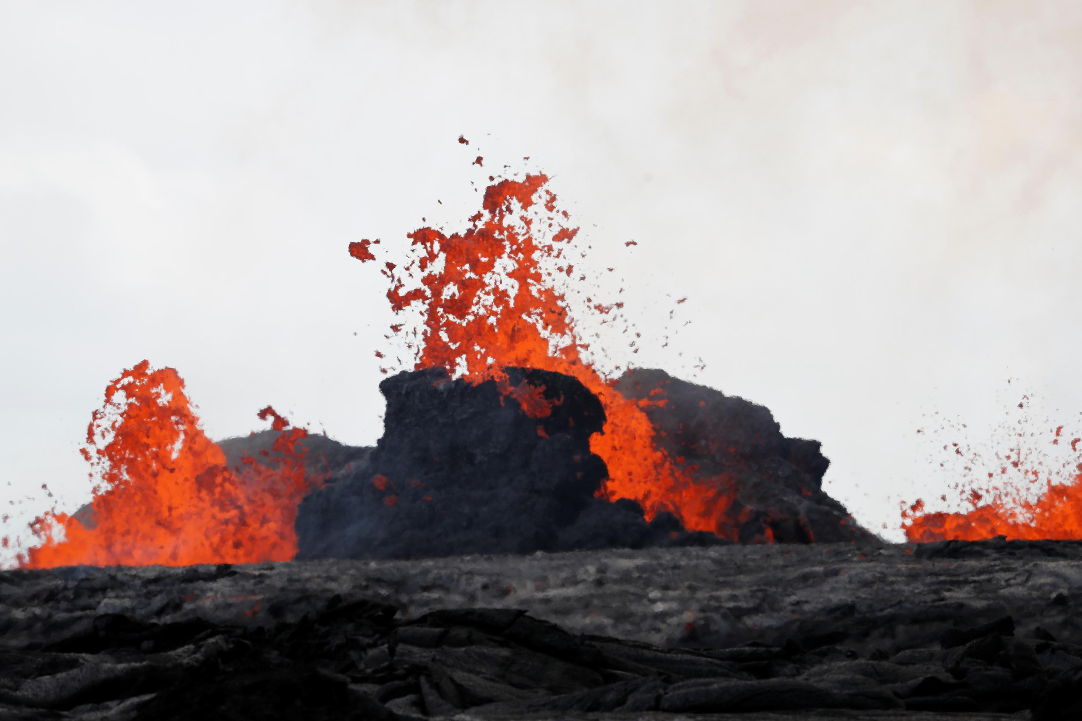 حمم البركان بولاية هاواى