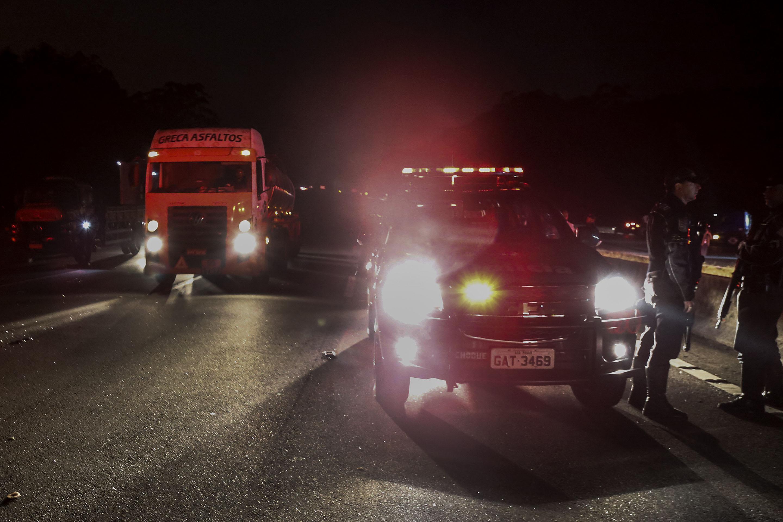 الشرطة البرازيلية تنتشر فى الشوارع