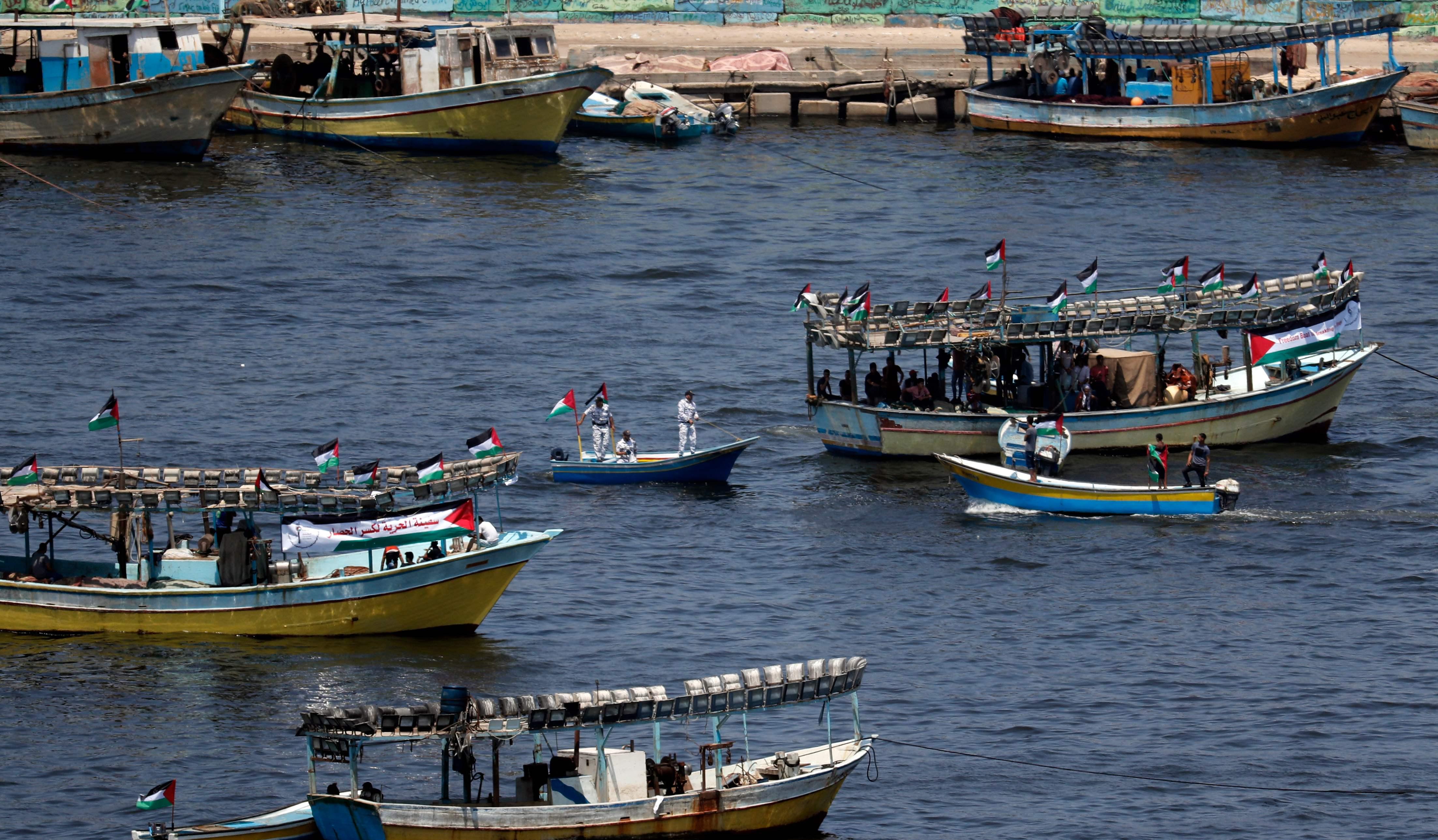 مراكب الصيد الفلسطينية