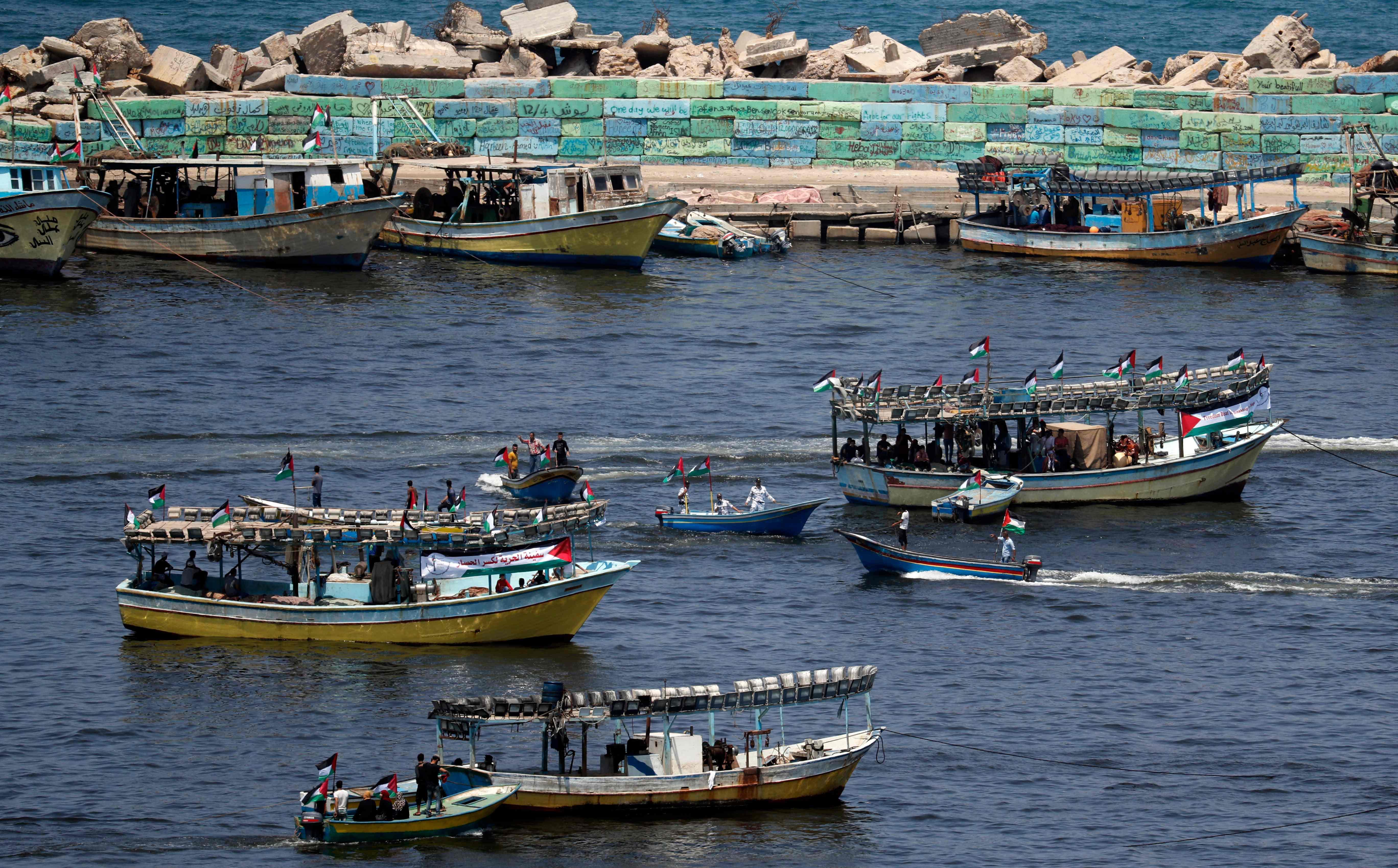 مراكب الصيد فلسطينية