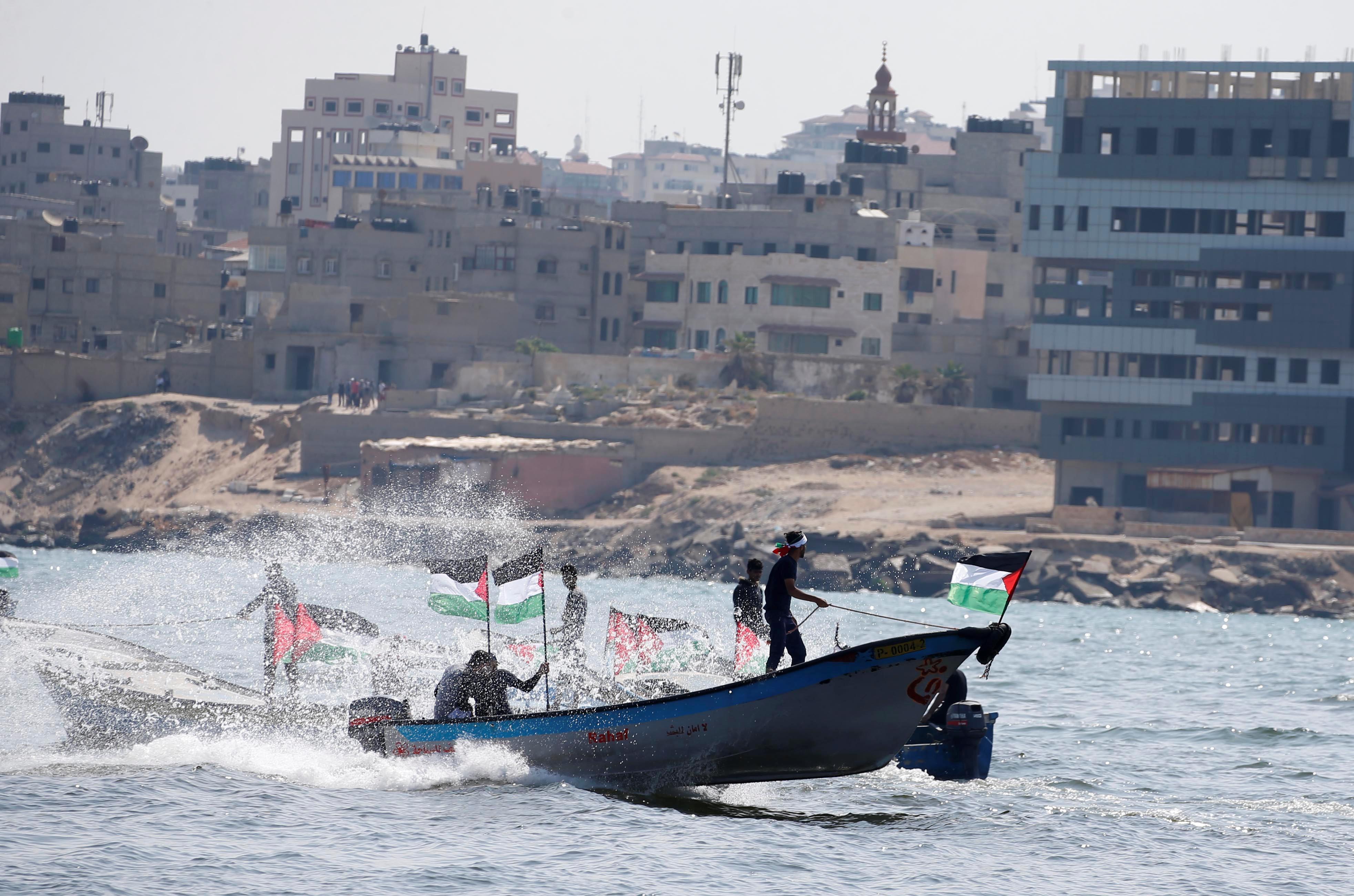 جانب من إبحار الفلسطينيين