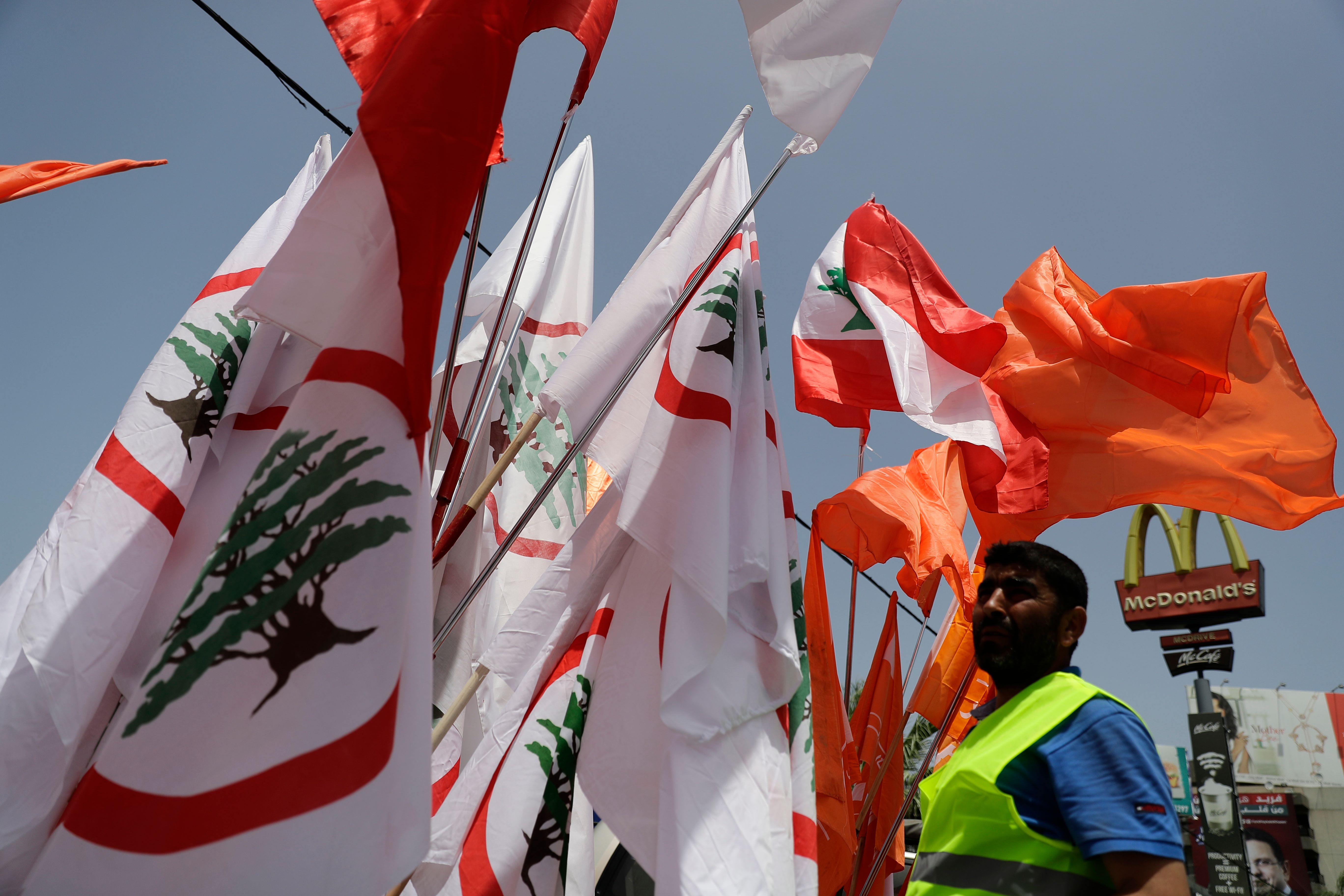 جانب من أعلام لبنان