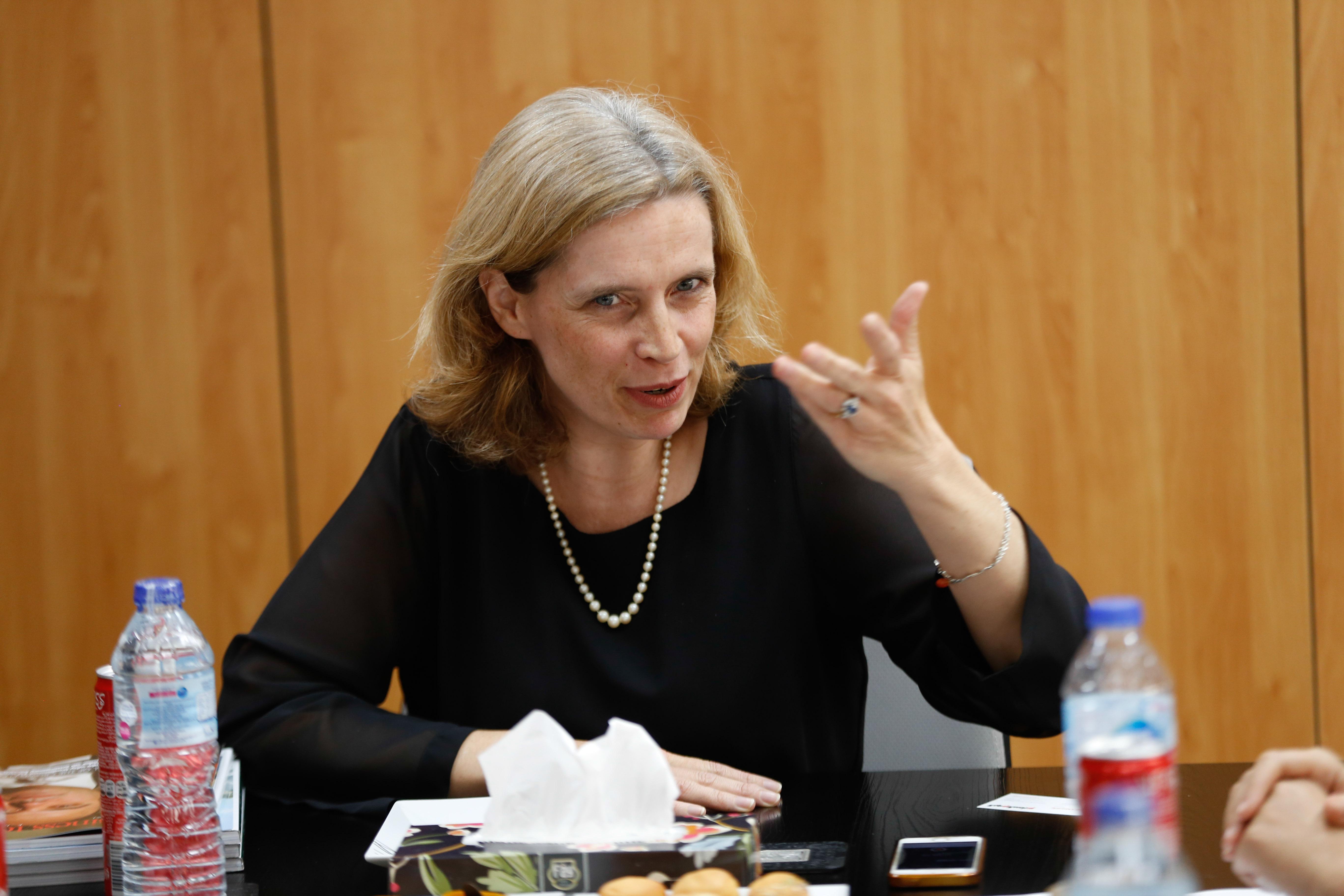 سفيرة بلجيكا سيبيل دى كارتييه