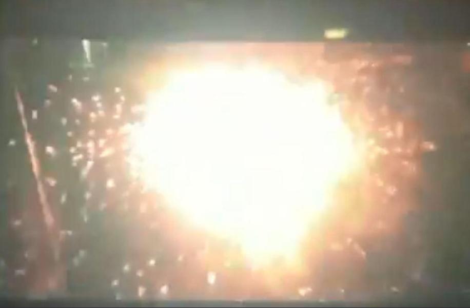 جانب من الانفجار بلندن