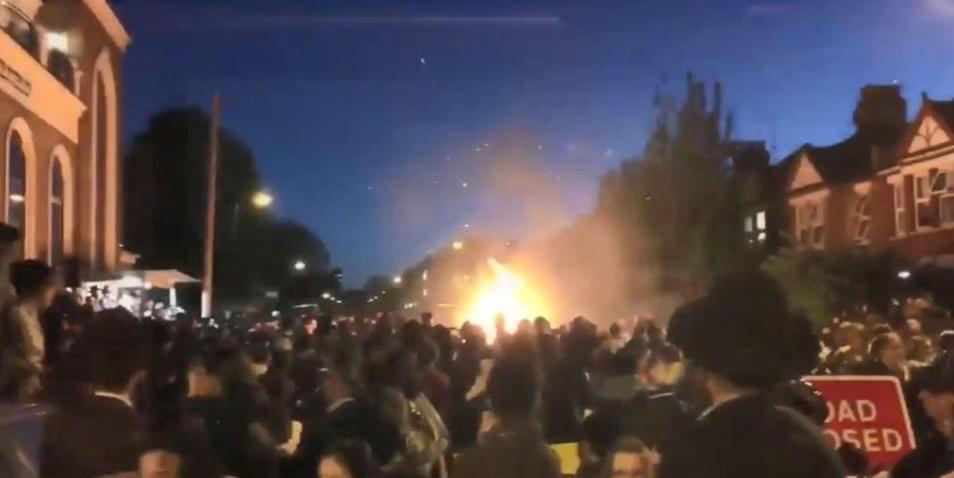 لحظة الانفجار شمال لندن
