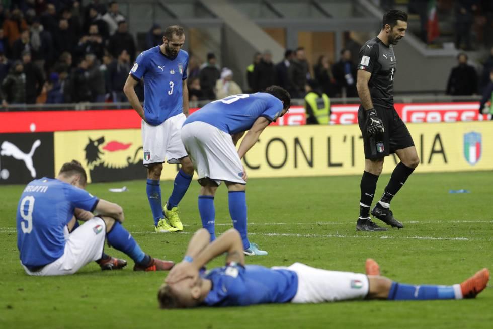 هزيمة منتخب ايطاليا