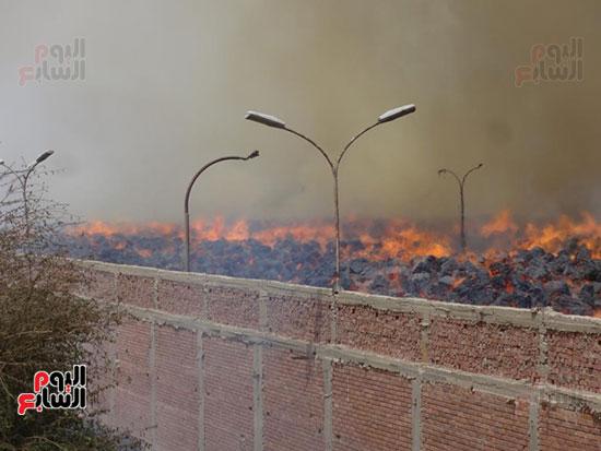 حريق سكر كوم أمبو