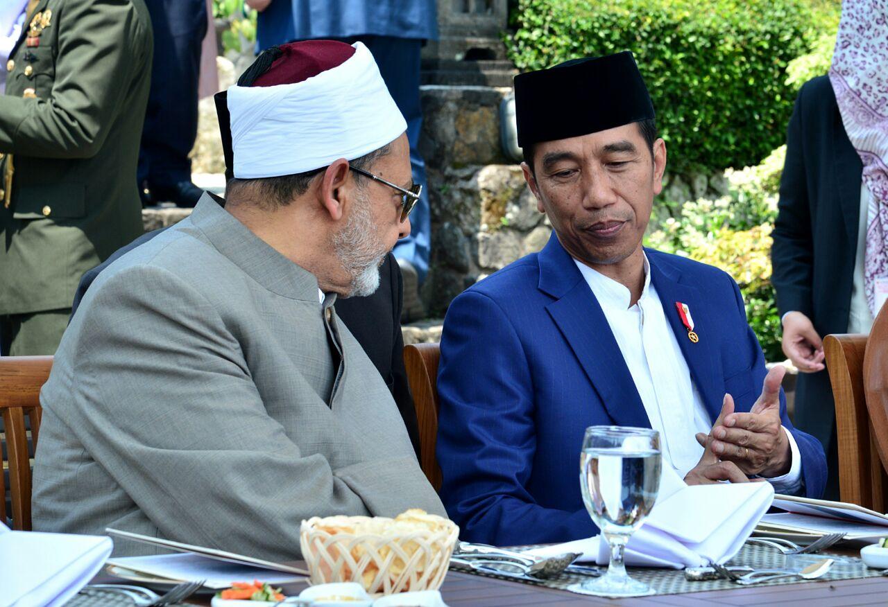 مأدبة غذاء رئيس اندونيسيا تكريما لشيخ الازهر
