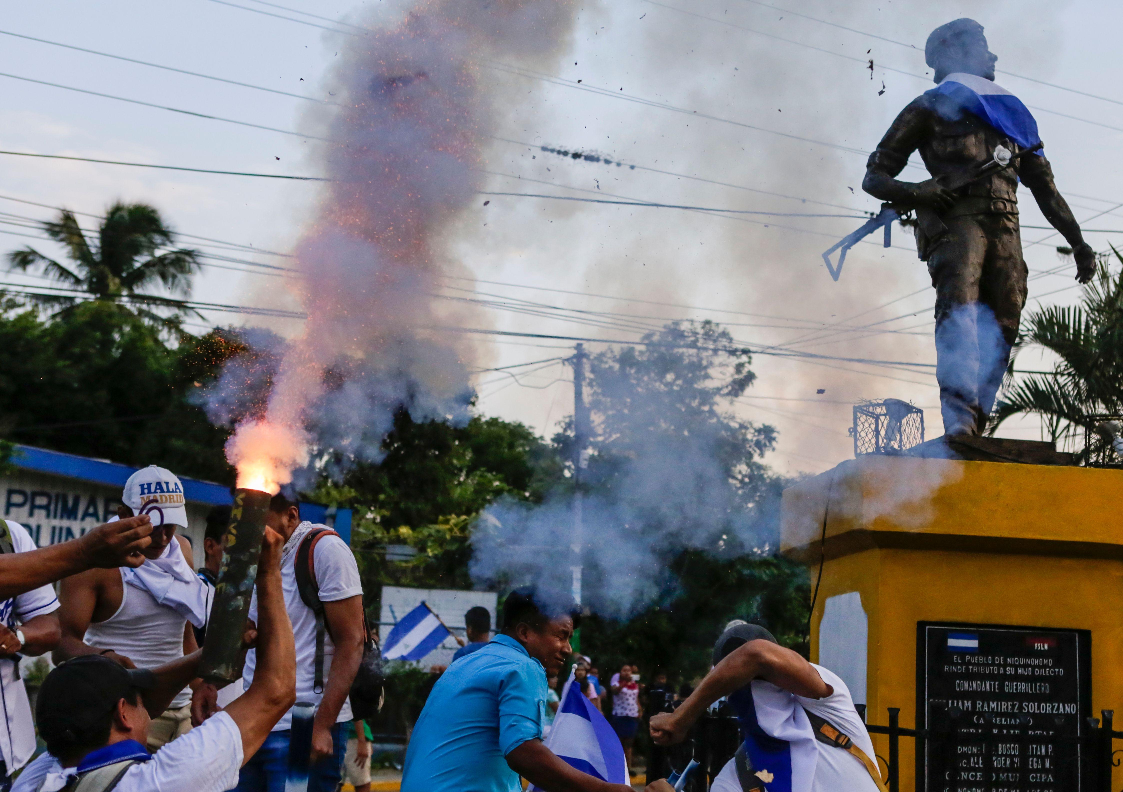 احتجاجات فى نيكاراجوا