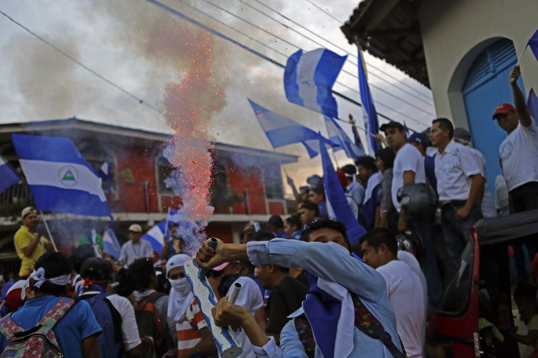 جانب من الاحتجاجات فى نيكاراجوا