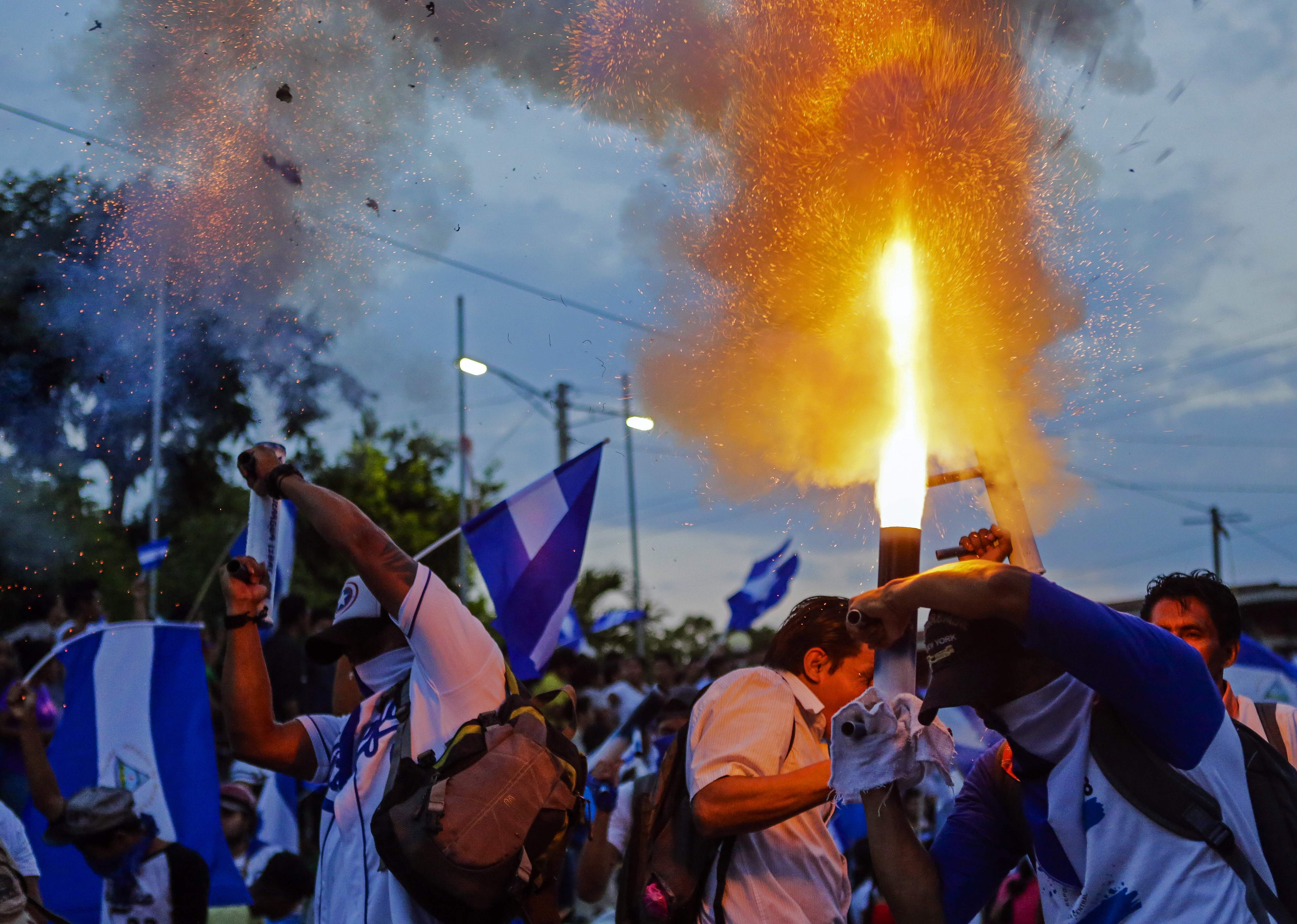 اطلاق الالعاب النارية فى نيكاراجوا